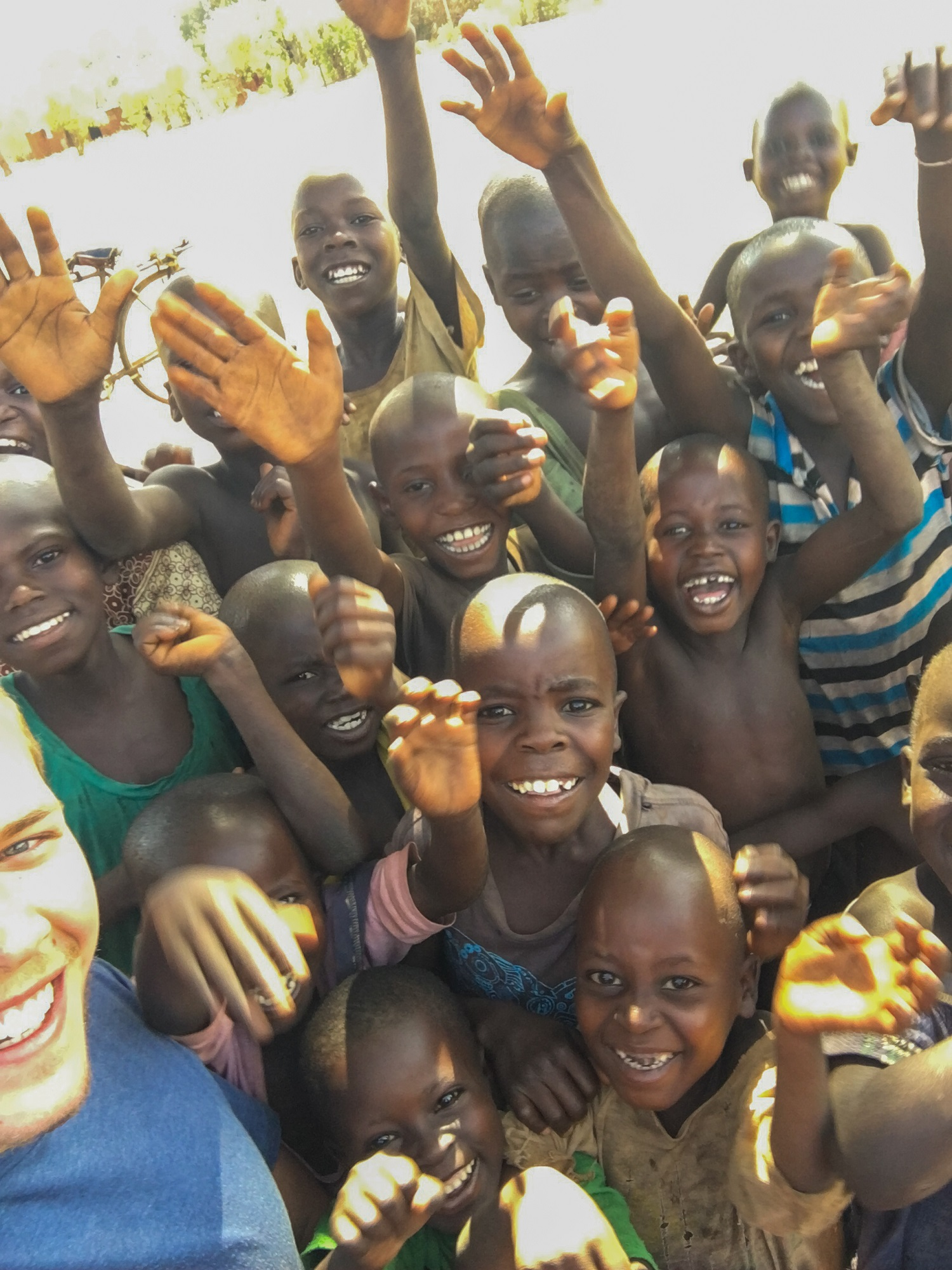 Village children selfie