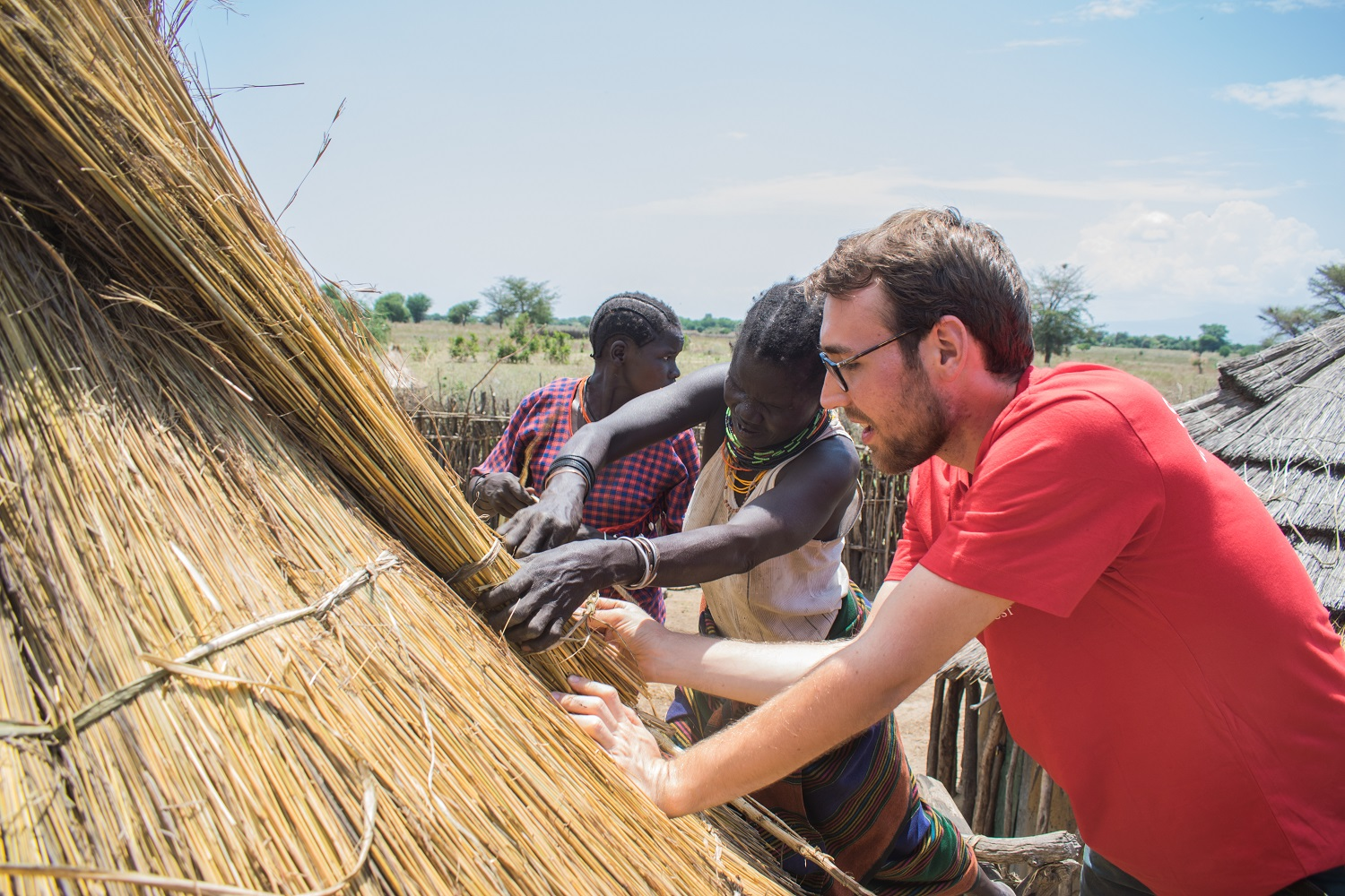 Thatching in Nakapiripirit