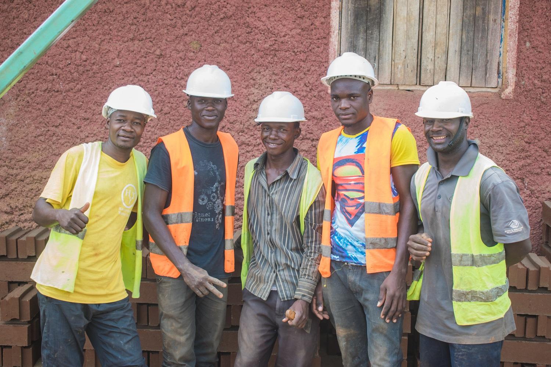 Najjembe Water Tank Building Team