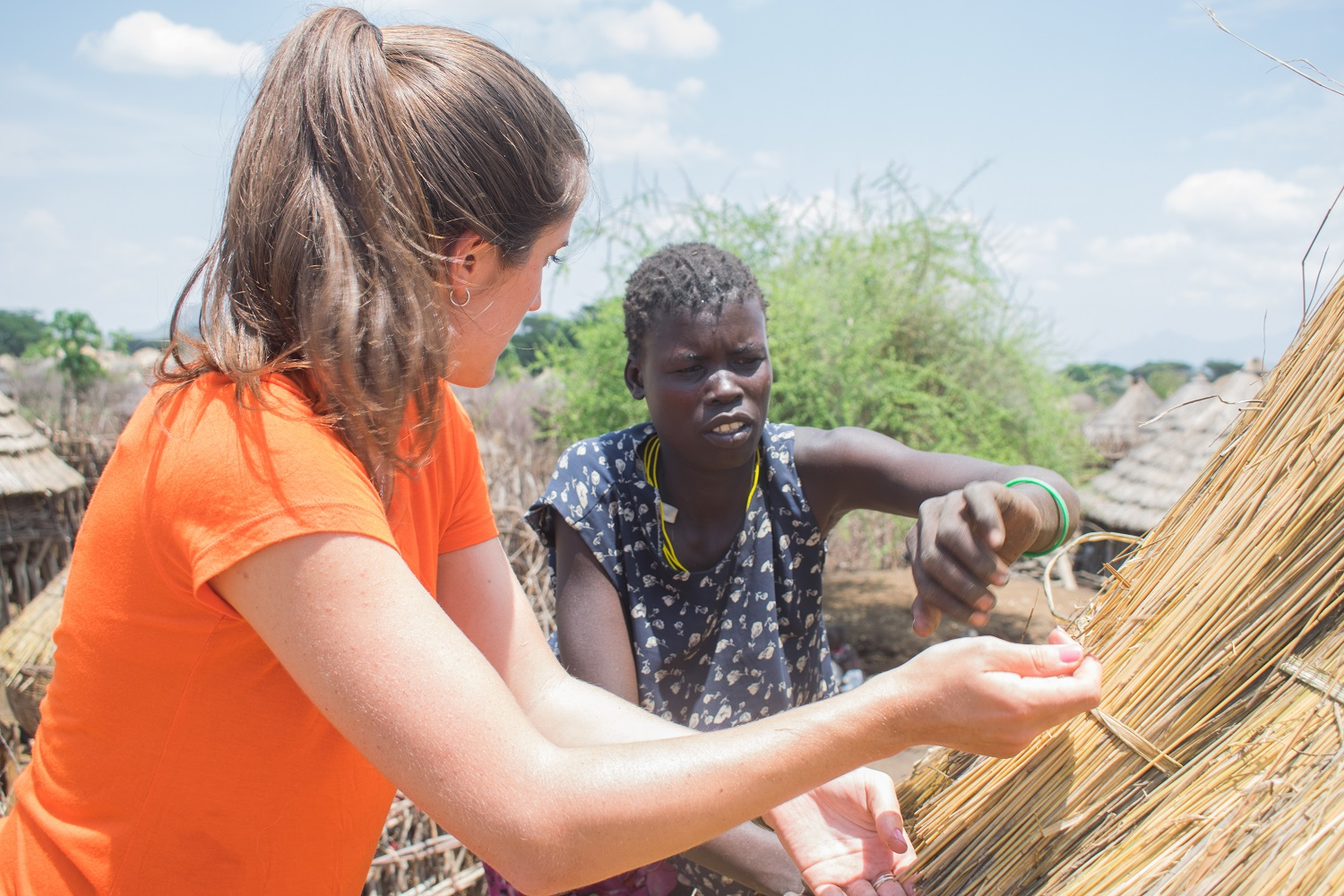 Angelica roofs with the Karamojong
