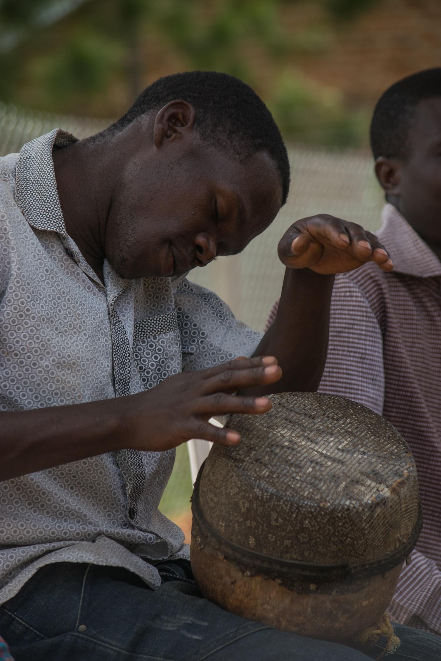 Ugandan Drummer in Mayuge