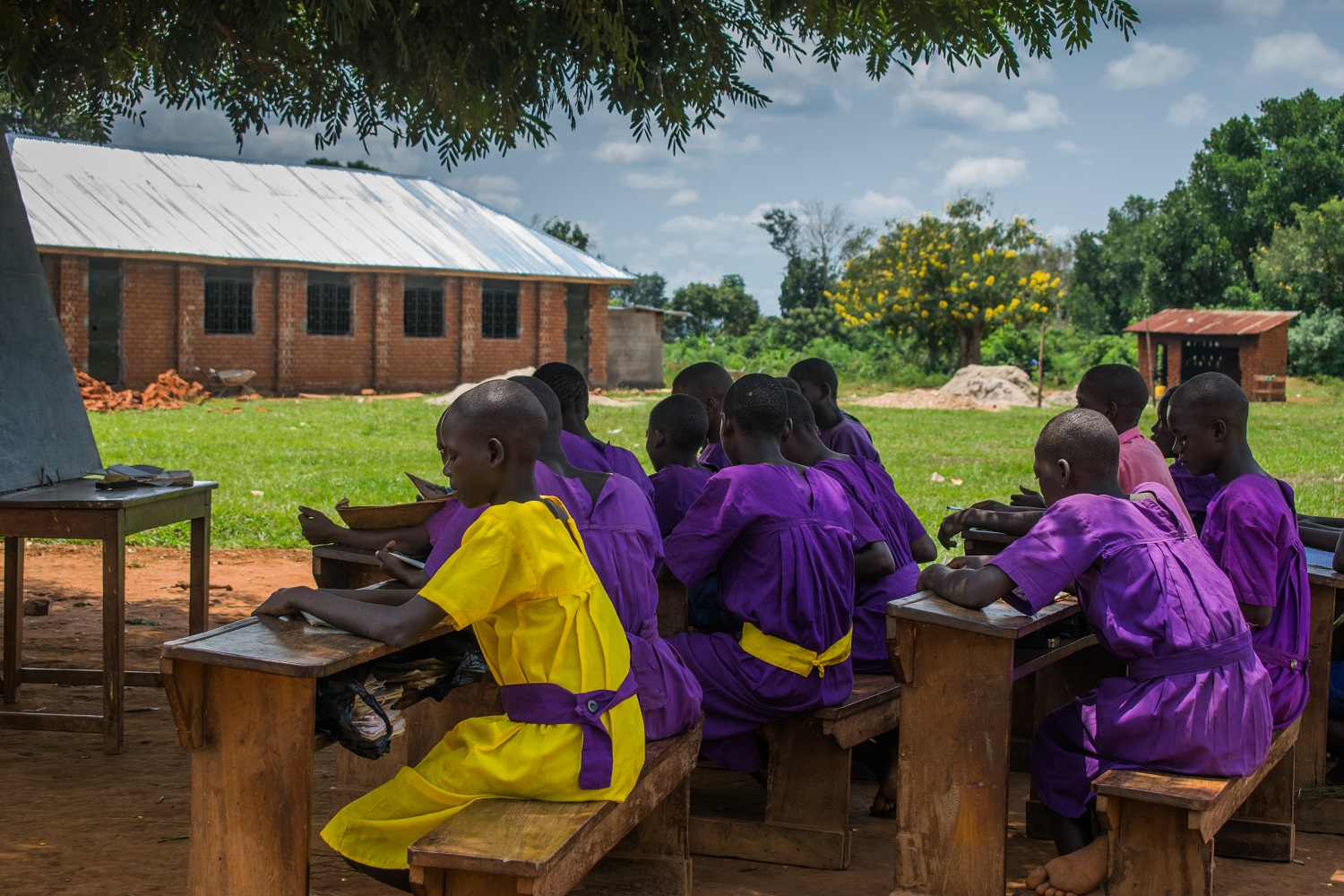 HYT Uganda outdoor learning at Kayembe Primary School